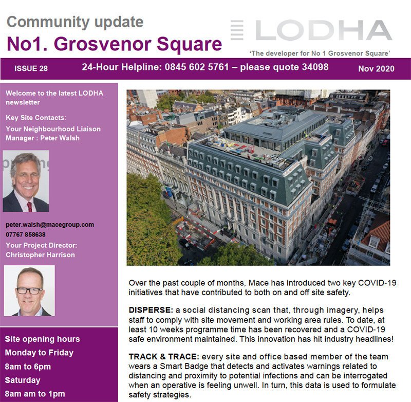 1 Grosvenor Square Newsletter (November 2020) - Click here to view this entry