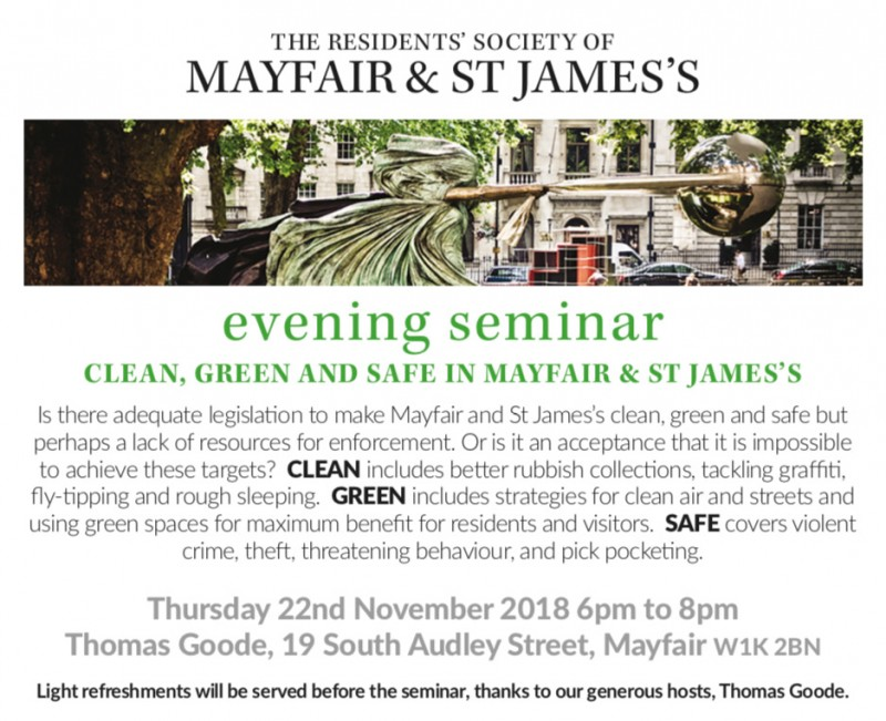 Clean, Green and Safe in Mayfair & St James's - Click here to view this entry